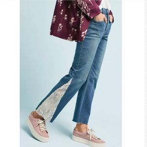 NWOT $158 Anthropologie Pilcro Sequin Flare Jeans